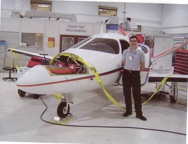 The Aerospace Genius and one of his creations.