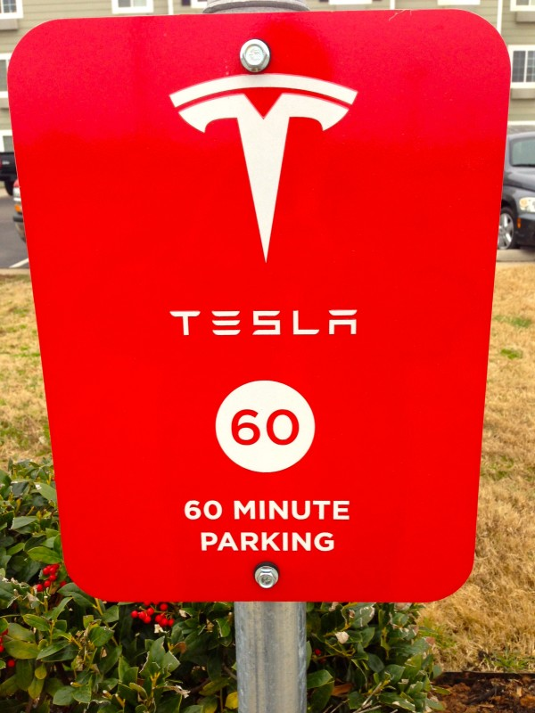 Tesla 60 minute parking
