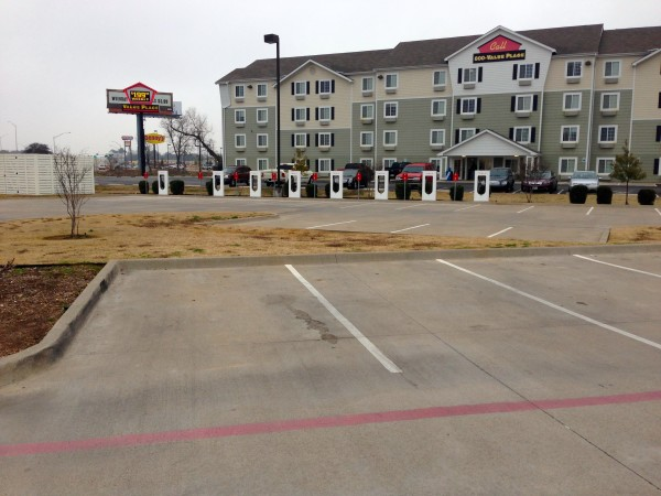 Waco supercharging stations